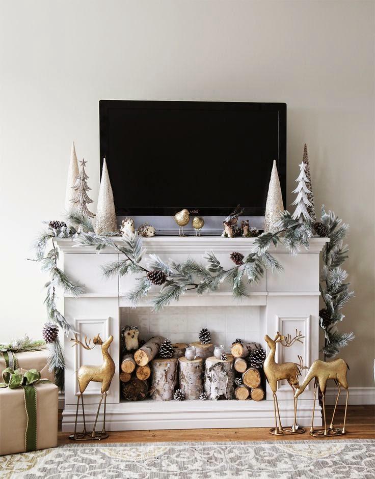 The magpie decorazioni natalizie part 1 for Caminetto finto natale