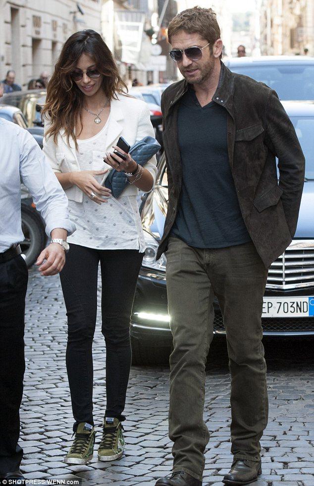 Celeb Diary: Gerard Butler & Madalina Ghenea in Roma