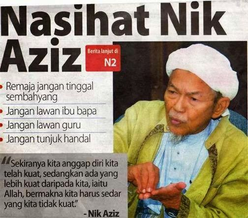 Nasihat TG Nik Aziz