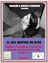 """Afiche promocional de """"El Día después de Ayer""""."""