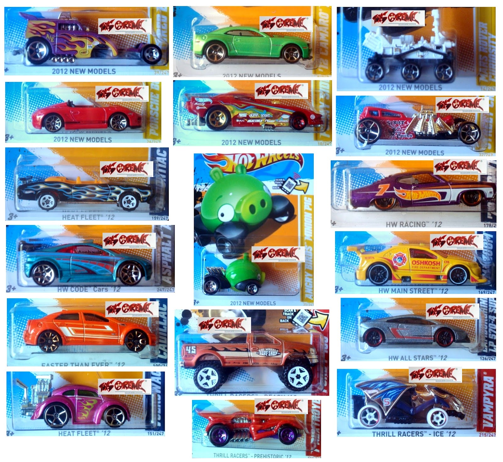 these are the cars listed below note i just got the 2012 p case us card edition on monday6august2012 and now already this q case - Hot Wheels Cars 2012