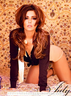 Cheryl Cole Tweedy sexy in 2012 Calendar