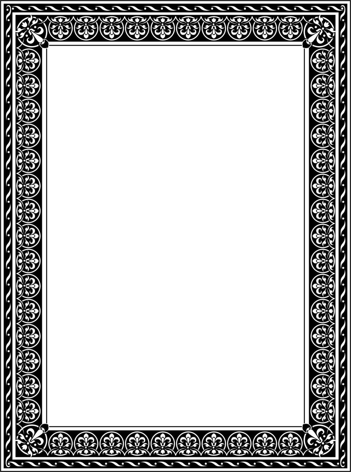 Bingkai / Border Piagam Vector (1)