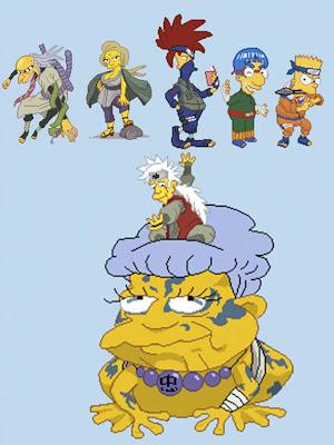 Personajes de Los Simpsons al estilo Naruto