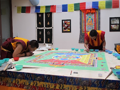 Medizin Buddha, Sandmandala, Kunga Tenzin, Tsering Tashi, Bodensee Sandmandala,