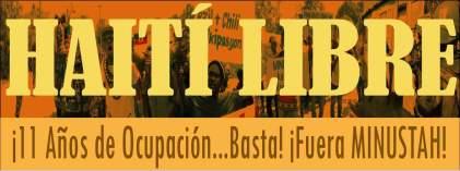 Não em nosso nome! Que retirem as tropas e parem a ocupação no Haiti já!