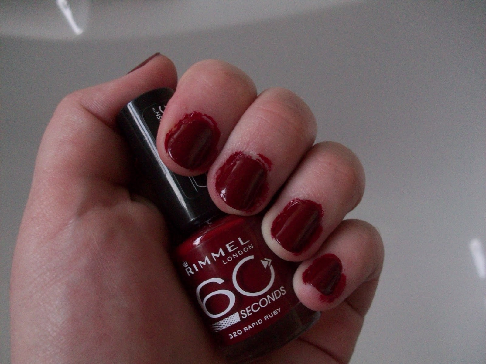 Pandemonium: NOTD- Rimmel 60 Seconds Nail Polish in Rapid Ruby