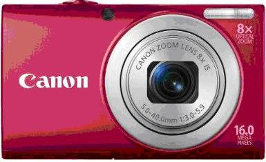 Canon PowerShot A4000IS in red