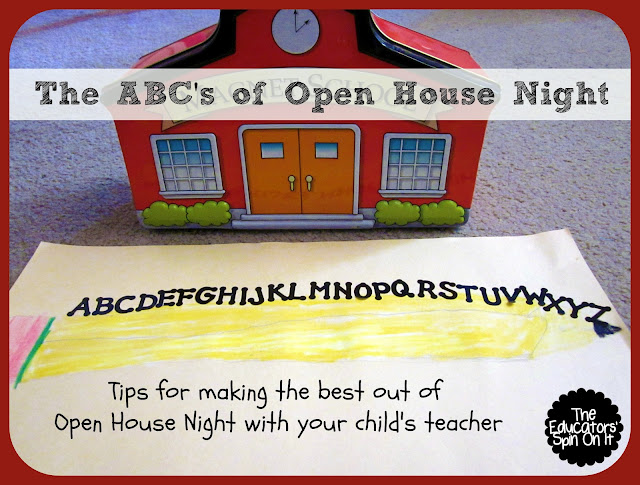 Tips for Open House Night for Parents from The Educators' Spin On It