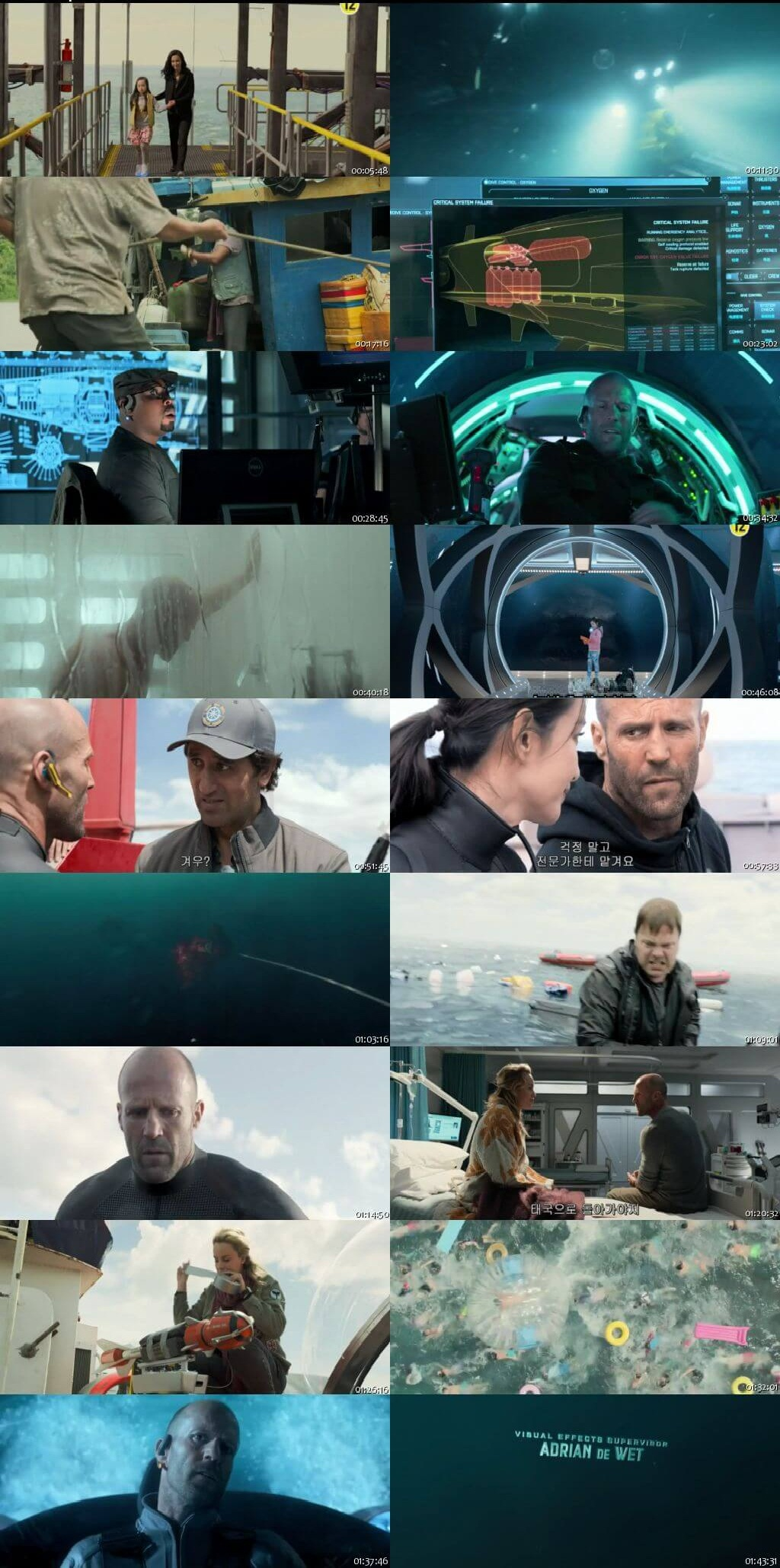 Screen Shot Of The Meg 2018 300MB Full Movie Hindi Dubbed Free Download 720P BRRip HEVC