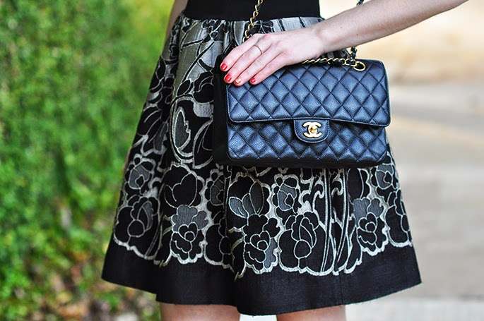Chanel classic flap bag in quilted lambskin