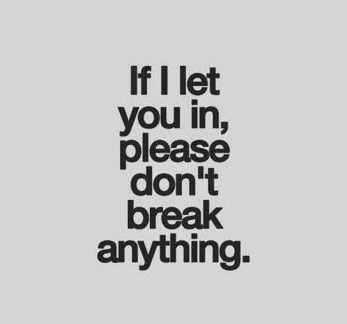 If i let you in, please don't break anything image quote