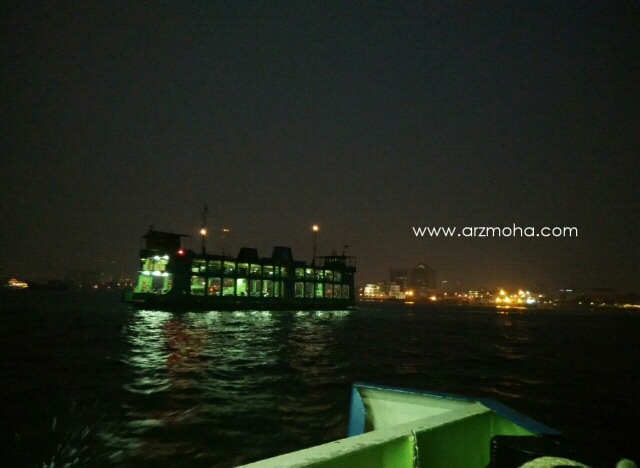 Gambar feri Pulau Pinang, feri Pulau Pinang di waktu malam,