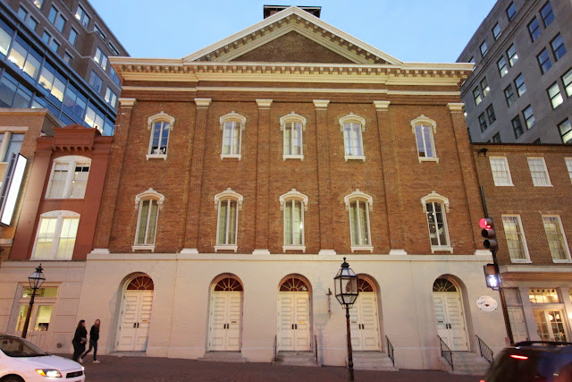A historical of Ford's Theatre where Abraham Lincoln was assassinated while watching the performance in Washington DC, USA