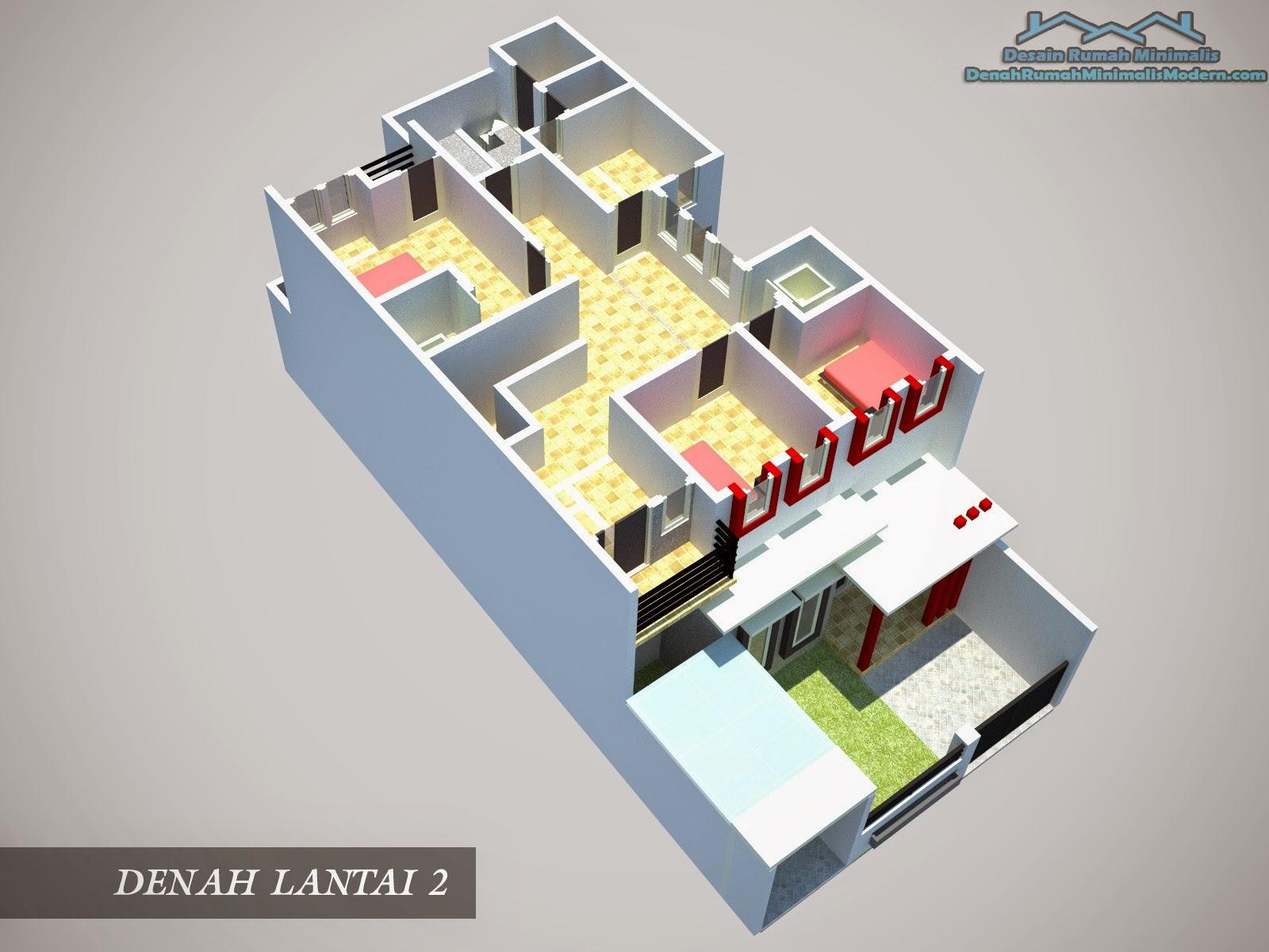 Desain Rumah Minimalis 1 Lantai 2 Kamar Tidur Gambar Foto Desain