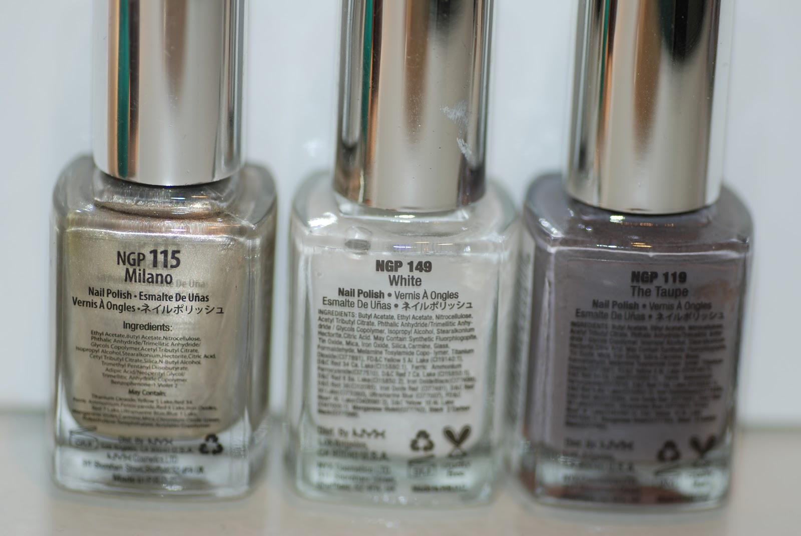Addicted to Nail Paint: NYX Nail Polish