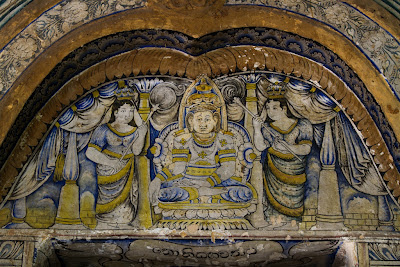 A photograph of the paintings at the Hindagaa Temple in Kandy, Sri Lanka