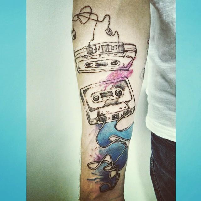 Tatuagem Cool Fita Cassete - Tattoos