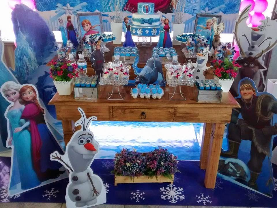 decoracao festa rustica: Clean ABC: Decoração Frozen, Festa Frozen Lançamento Mesa Rústica