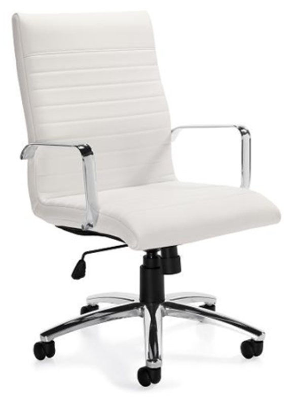 11730-BL28 White Ribbed Executive Chair