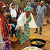Campaign Strategy? Buhari's Wife Spotted Frying Akara By The Road Side