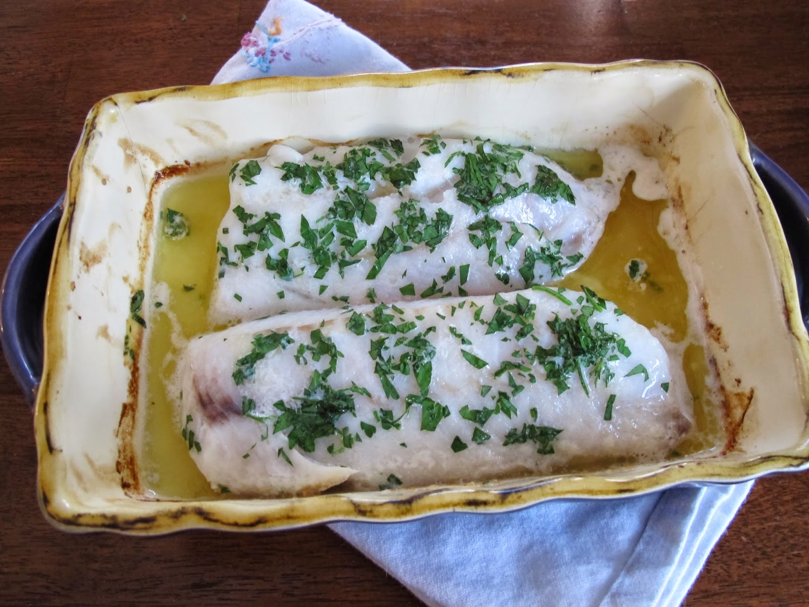 Baked Cod with Butter and Sherry
