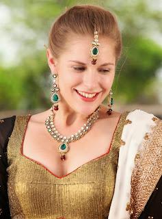 Actress Rachel Vees Pictures in Lehenga Choli On Potugadu Sets 010