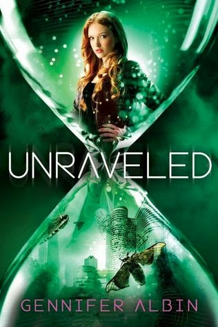 http://www.amazon.com/Unraveled-Crewel-World-Gennifer-Albin/dp/0374316430/ref=sr_1_2?ie=UTF8&qid=1413955667&sr=8-2&keywords=unraveled