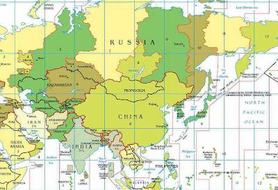 Rusya ve afrika haritadan silindi