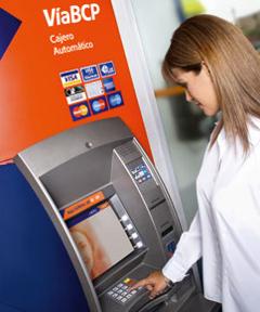 Operaciones en los cajeros del bcp for Banco con mas cajeros