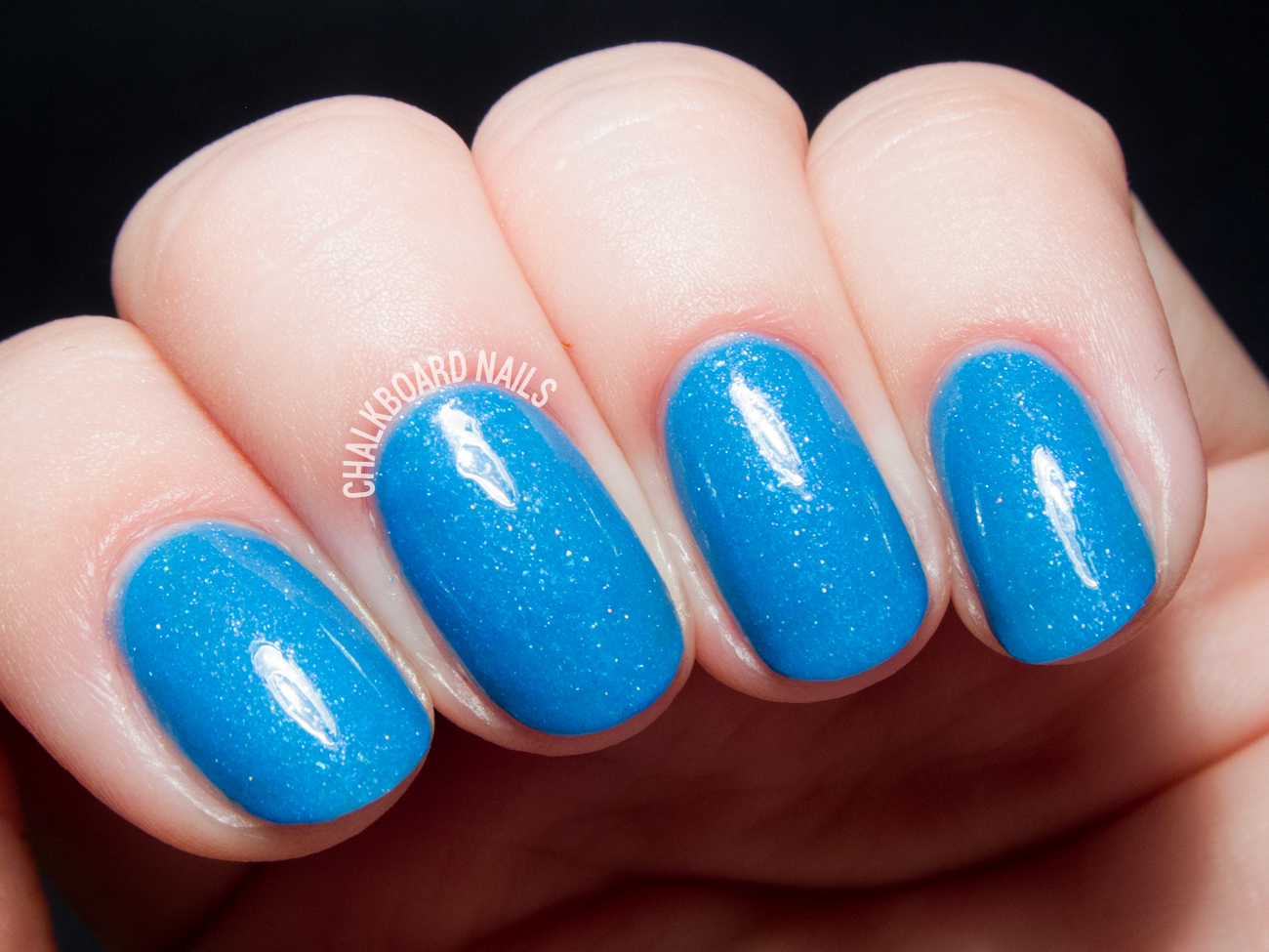 Serum No. 5 Glo-balt Blue via @chalkboardnails