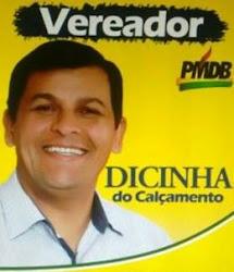 PATROCÍNIO EXCLUSIVO DO VEREADOR ELEITO,  2º MAIS VOTADO 1.017 VOTOS, DICINHA DO CALÇAMENTO.