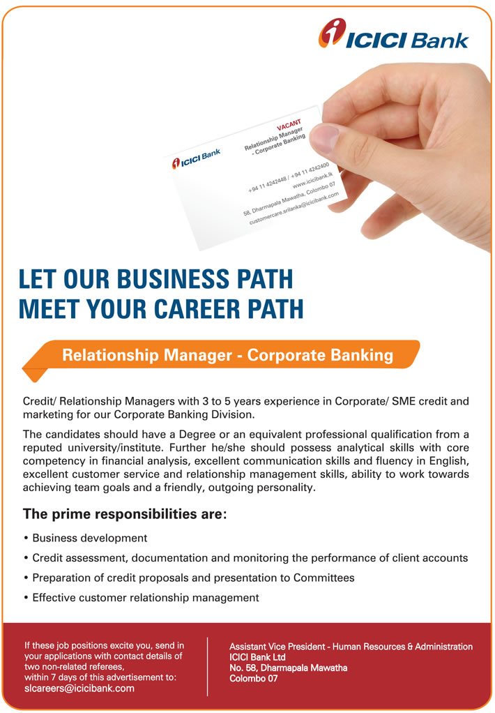 Sample resume of corporate relationship manager