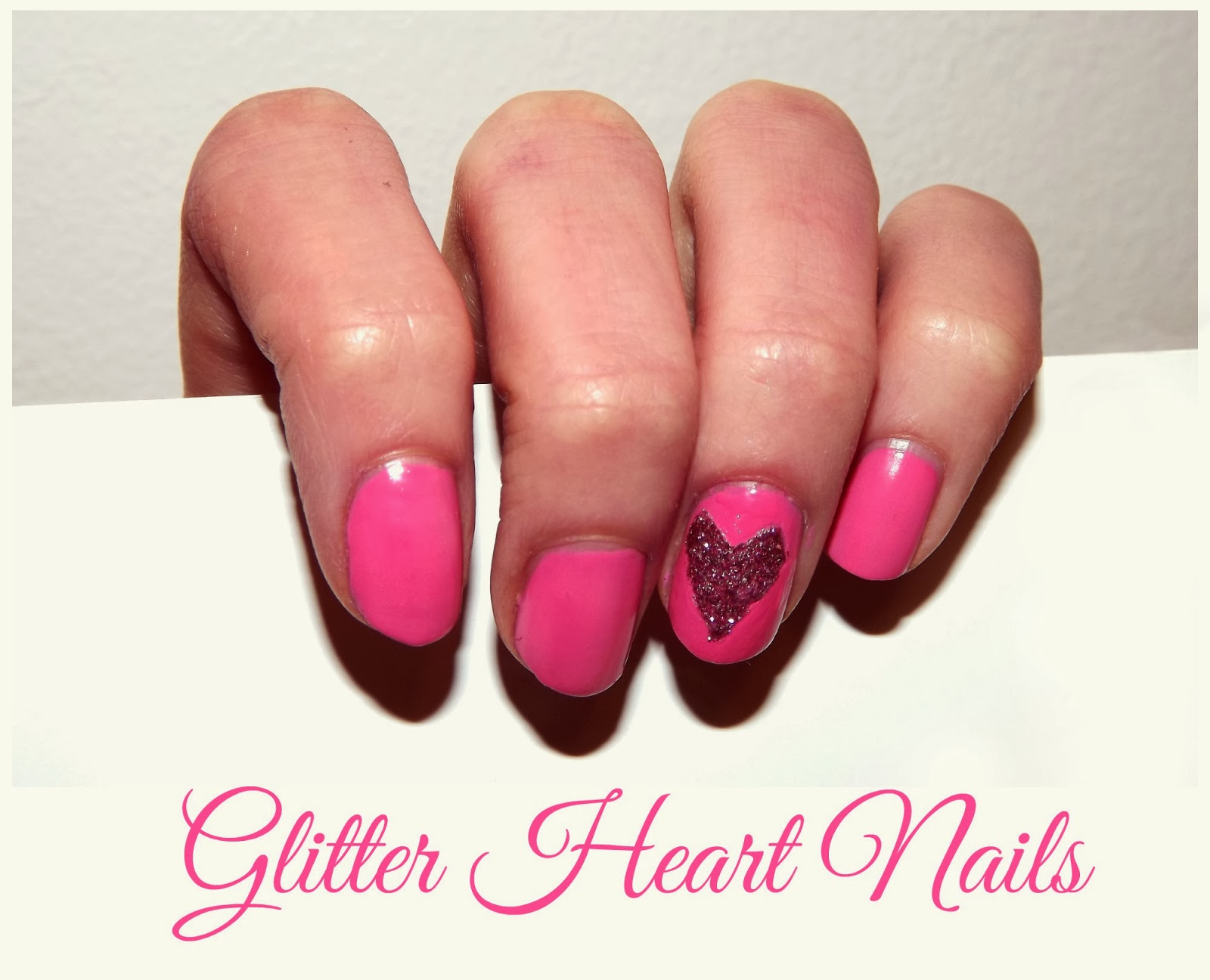 Valentine Nails Valentine Manicure Finger Ring Heart Nails Glitter Heart Nails