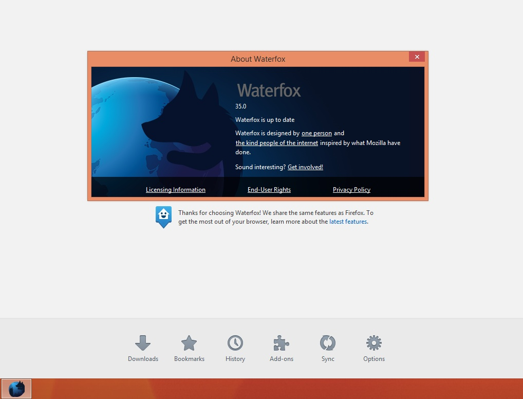 about Waterfox