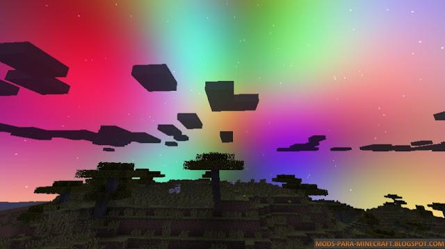 Imagen donde se muestra el cambio del color del cielo con el Mod Color My Sky