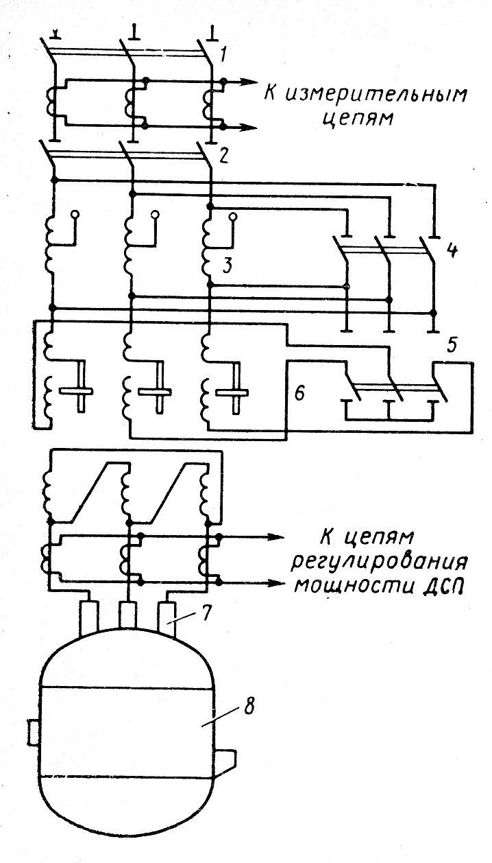 Электрическая схема дуговой печной установки