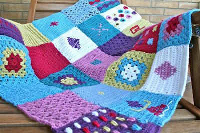 Le cose di mys maglia uncinetto telaio tutorial e facilmente uncinetto unione delle - Coperta uncinetto piastrelle ...