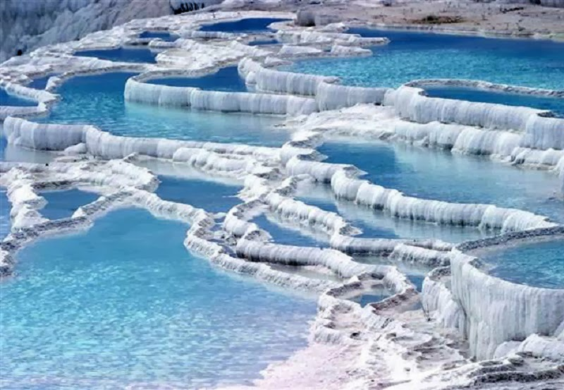 Travertines, Pamukkale, Turkey - Too Beautiful To Be Real? 16 Surreal Landscapes Found On Earth