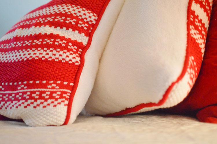 Martha Stewart Macy Fair Isle Sweater Pillow