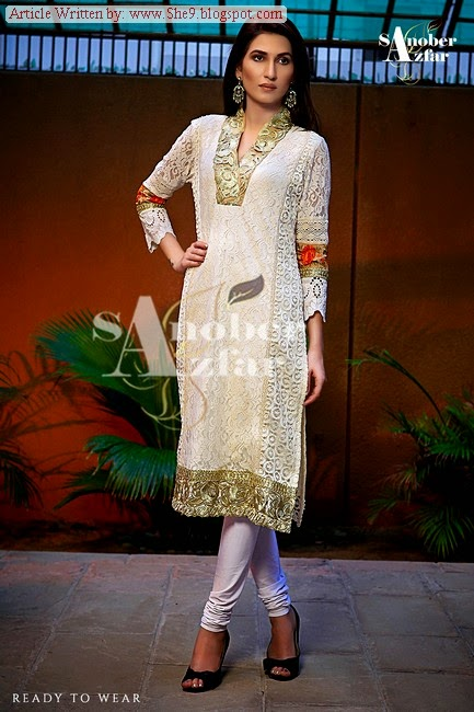 Sanober Azfar Ready To Wear Winter-Fall Collection 2014