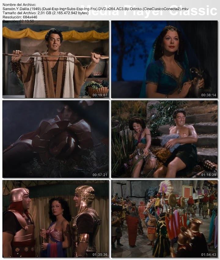Sansón y Dalila   1949   Samson and Delilah   secuencias
