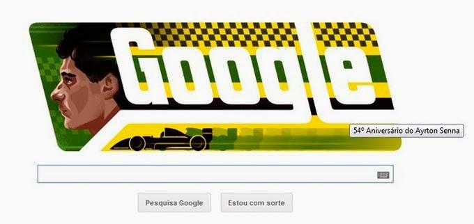 Google Homenagea Ayrton Senna pelo deu 54º Aniversário