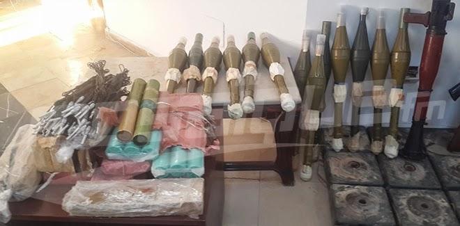 وطني: قردان: تفاصيل أسلحة وذخيرة المخزن الثاني بوادي فسّي (الصور %D8%A3%D8%B3%D9%84%D