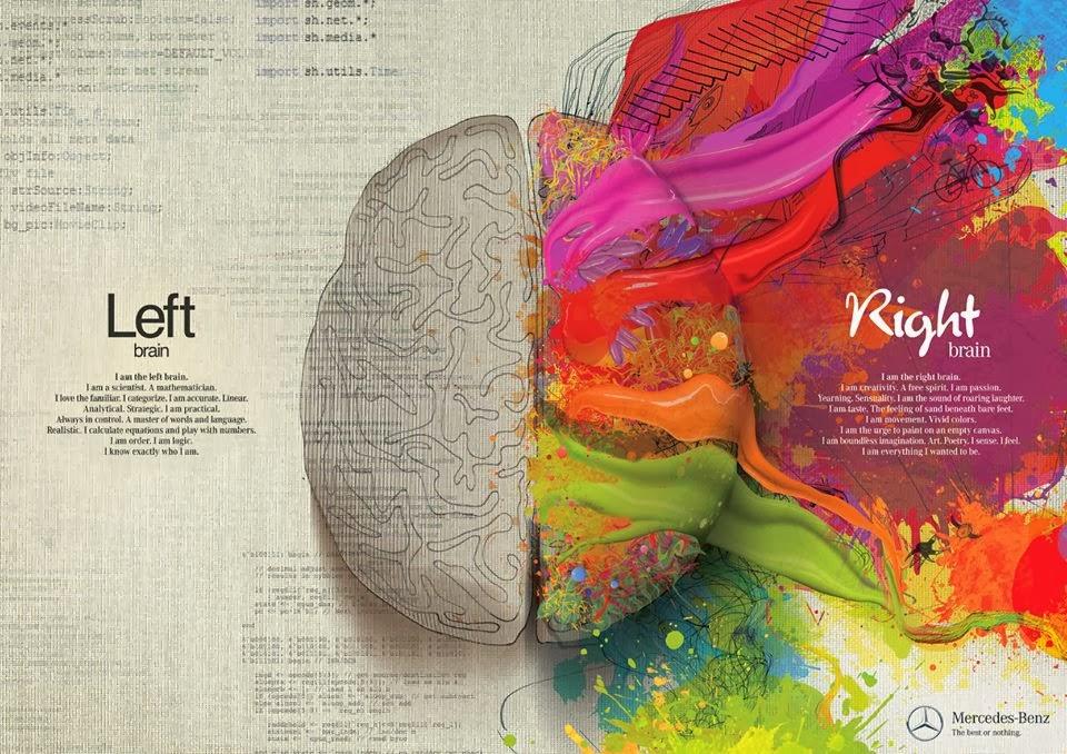 left brain right brain, mercedes benz, brain, mercedes ad