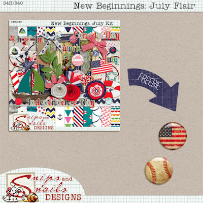 New Beginnings: July Flair Freebie Digital Scrapbook