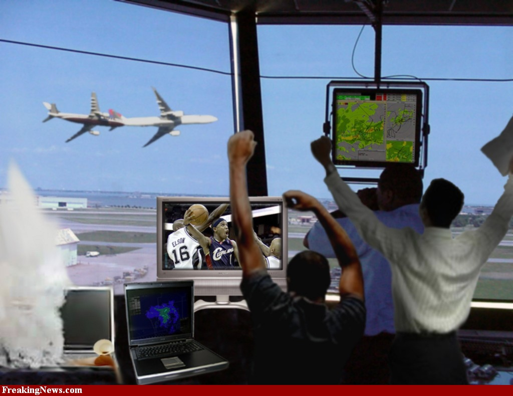 air traffic controlling