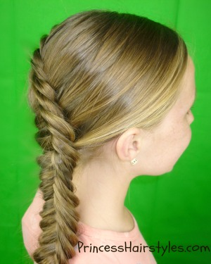Inside Out Fishtail Braid Tutorial Hairstyles For Girls