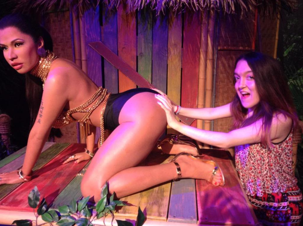 People taking 'inappropriate' photographs with a waxwork model of Anaconda singer Nicki Minaj has prompted Madame Tussauds in Las Vegas to lay on extra security for the figure.