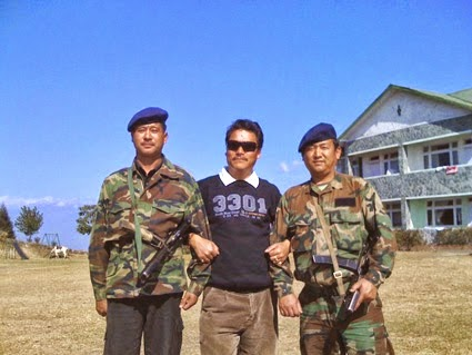 Bimal Gurung with his secuirity bodyguard